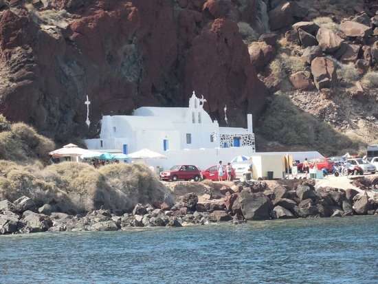 Captain George Santorini Yachting: view from boat