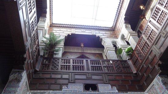 Riad Rcif: Courtyard; upper flours (FF & 3rd floor)