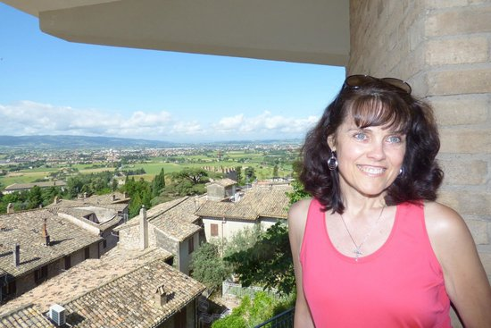 Hotel Giotto Assisi: View from the balcony in our room :-)