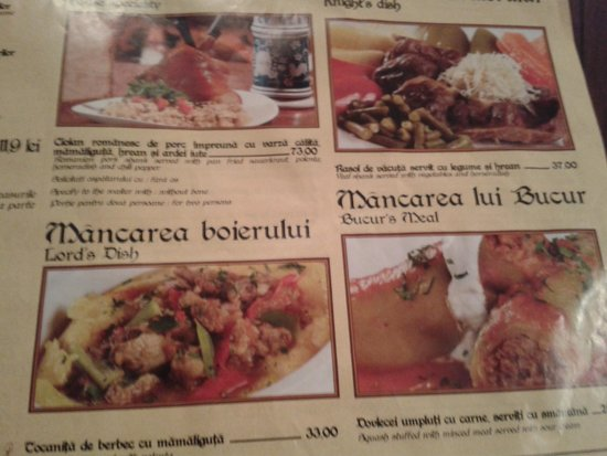 Caru' cu Bere: A selection of the dozens of dishes on the menu