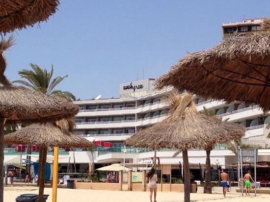 Sol Wave House Hotel: hotellet sett fra stranden rett nedenfor