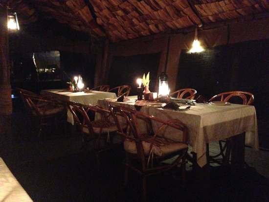 Crater Forest Tented Camp: Gorgeous, romantic dining room