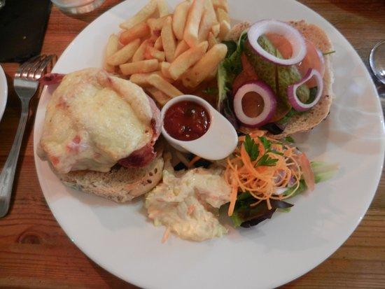 Off The Square Restaurant : Bumper burger presentation