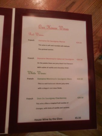 Off The Square Restaurant : ANy wine provided its French!