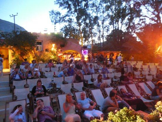Open Air Cinema Kamari: seats