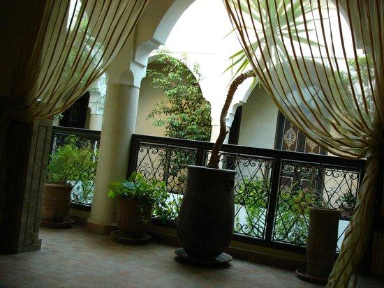 Riad Bamaga Hotel : View to the garden