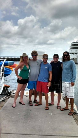 Danger Charters: Hangin' withTodd, Adam, my Hubs and the Captain. (from L to R)