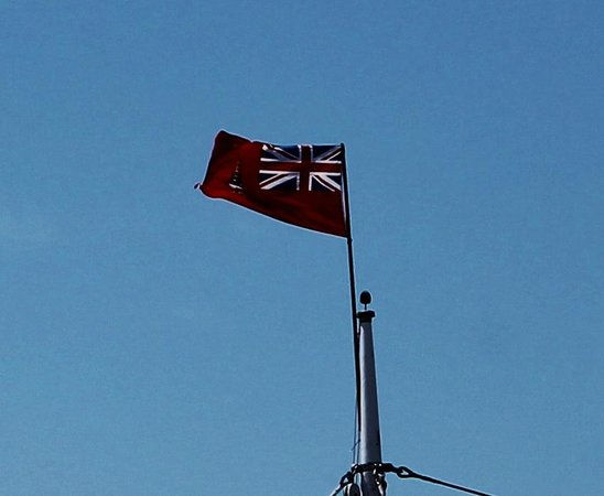 Bluenose II : Proudly displays her colors