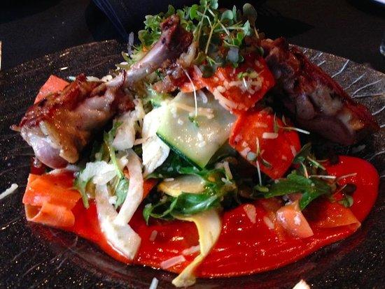 Etch Restaurant: Duck confit ratatouille crudo. Wow!
