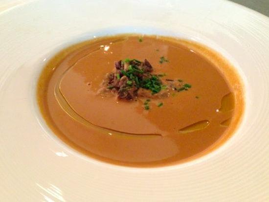 Etch Restaurant: Creamy mushroom soup with mushroom confit