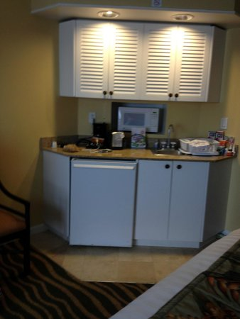 TradeWinds Island Grand Resort : kitchenette in the room