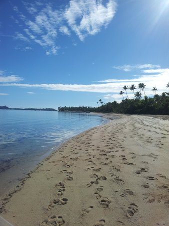 Lomani Island Resort: Beach alongside Resort