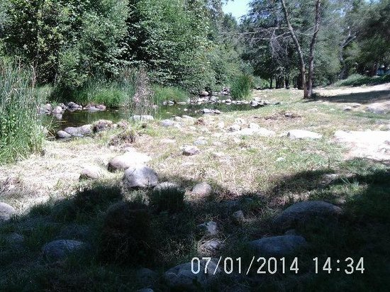 Sequoia RV Ranch: N. Fork Kaweah River on July 1