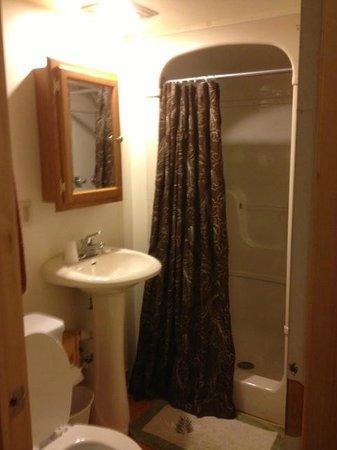 The Lake House: Bathroom w. Shower