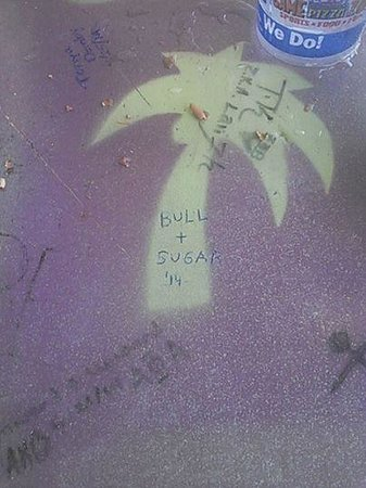 River City Cafe: leaving our mark on the table. (encourged by staff)