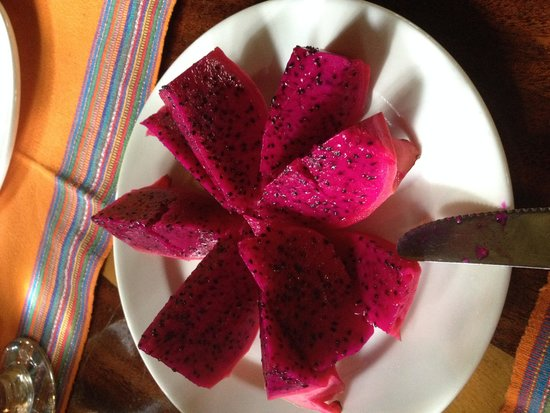 The Lodge at Chaa Creek: Dragonfruit at breakfast