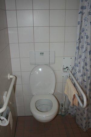 Hotel Sommer: WC (trop bas) mais avec 2 barres d'appui