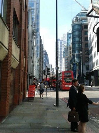 Tune Hotel - London, Liverpool Street: Round the corner from hotel