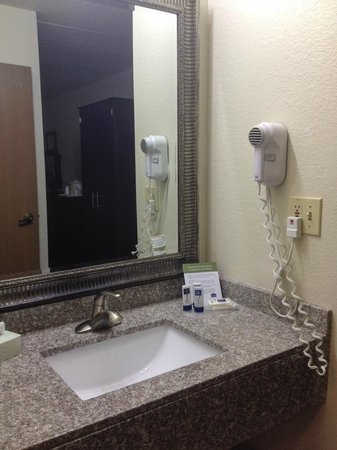 AmericInn Lodge & Suites Lincoln North: Sink in separate area adjacent to bathroom