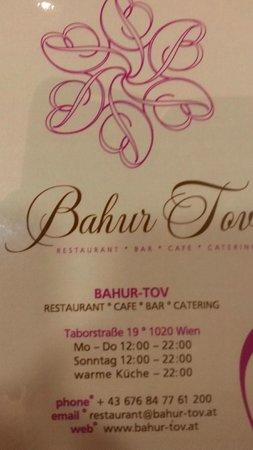 Restaurant Bahur-Tov