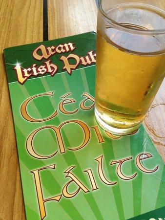 Aran Irish Pub: Хороший сидр в пабе