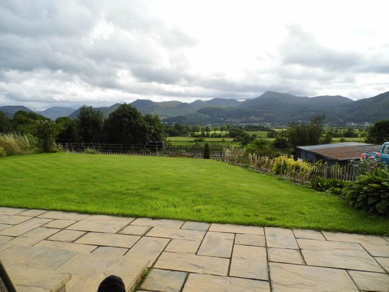 Cherry Bank: View from room towards Catbells etc