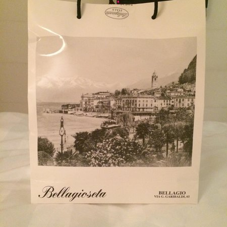 Bellagioseta: My bag was presented in this wonderful bag...