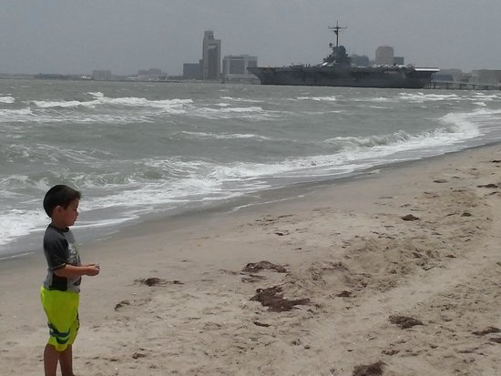 Beach Loop North Uss Lexington Background Corpus Christi