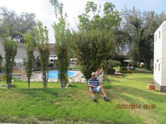 Hotel La Casa de mi Abuela: El parque con la piscina