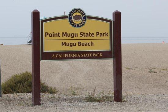 Point Mugu, CA: State park sign