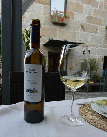 Wine at Restaurante Quinta de San Amaro.