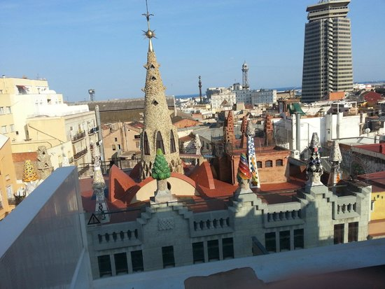 Hotel Gaudi : View from roof