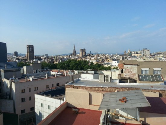 Hotel Gaudi: from roof
