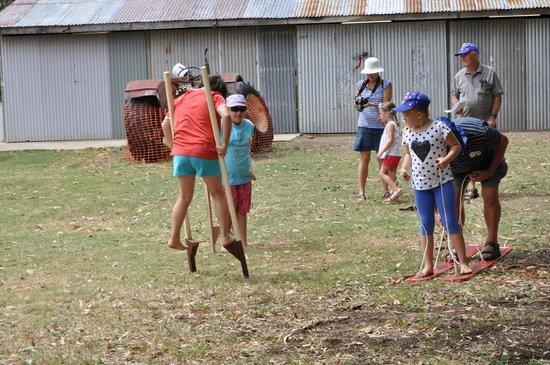 Hervey Bay Historical Village & Museum: Children on stilts