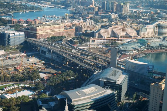 Meriton Serviced Apartments World Tower: View of Darling Harbour from hotel
