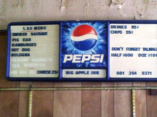 Big Apple Inn: Menu