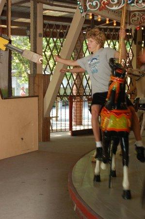 Knoebels Amusement Resort: Grabbing the rings