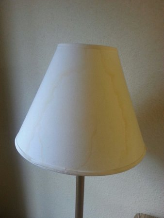 Homewood Suites by Hilton Columbia : Water stained lamp shade in room 301