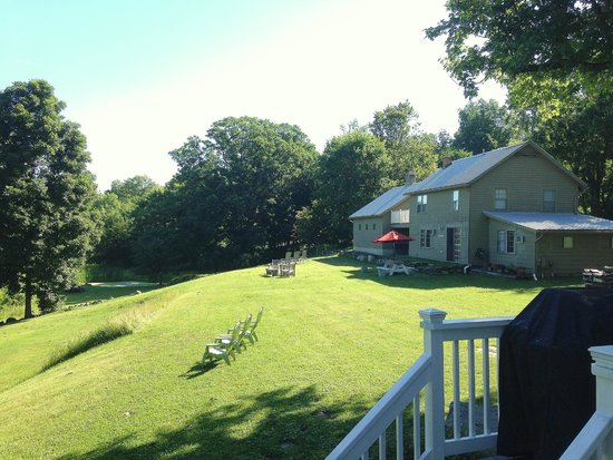 Enthusiastic Spirits Guest House and B&B: View from the veranda at the main house
