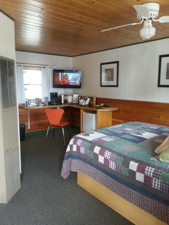 Mangy Moose Motel: View of TV area