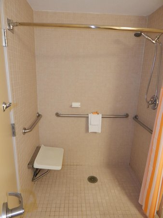La Quinta Inn & Suites Madison American Center : Roll-in Shower - Accessible Two Room One Full Suite w/Sleeper
