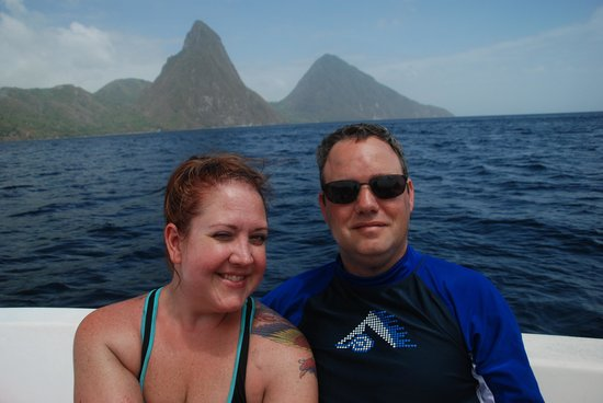 Sandals Regency La Toc Golf Resort and Spa: Visiting The Pitons!