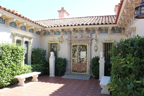 Hearst Castle: One of the cottages.