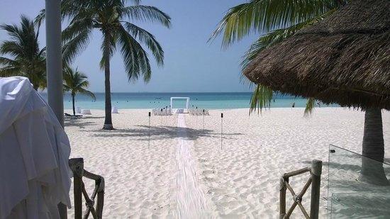 Presidente InterContinental Cancun Resort: Praia em frente ao hotel.