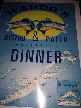 Wahoo's Waterside Bistro & Patio: Dinner