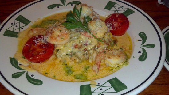 Olive Garden: Lasagna fresca with shrimp.