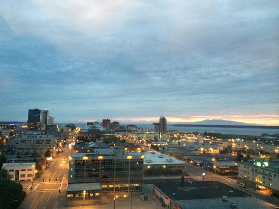 Sheraton Anchorage Hotel: View from my 12th floor room