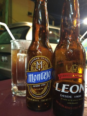 El Fogon : Micheladas with Montejo and Leon