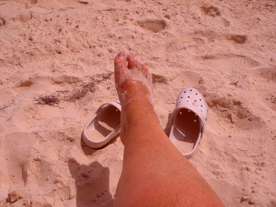 Occidental Caribe : mes pieds dans le sable