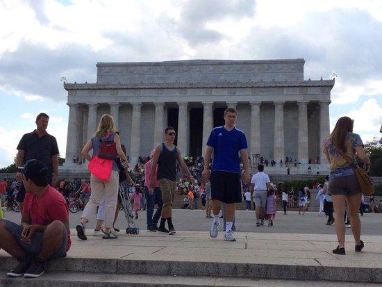 Vista do Lincoln Memorial.